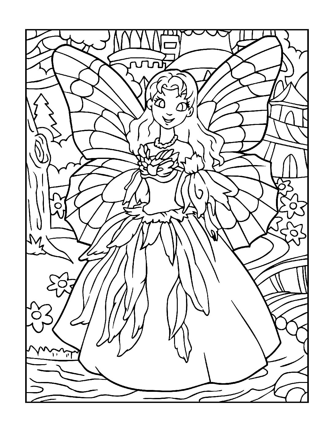 Coloring-Pages-Fairies-11-01-pdf Free Printable Fairy Colouring Pages