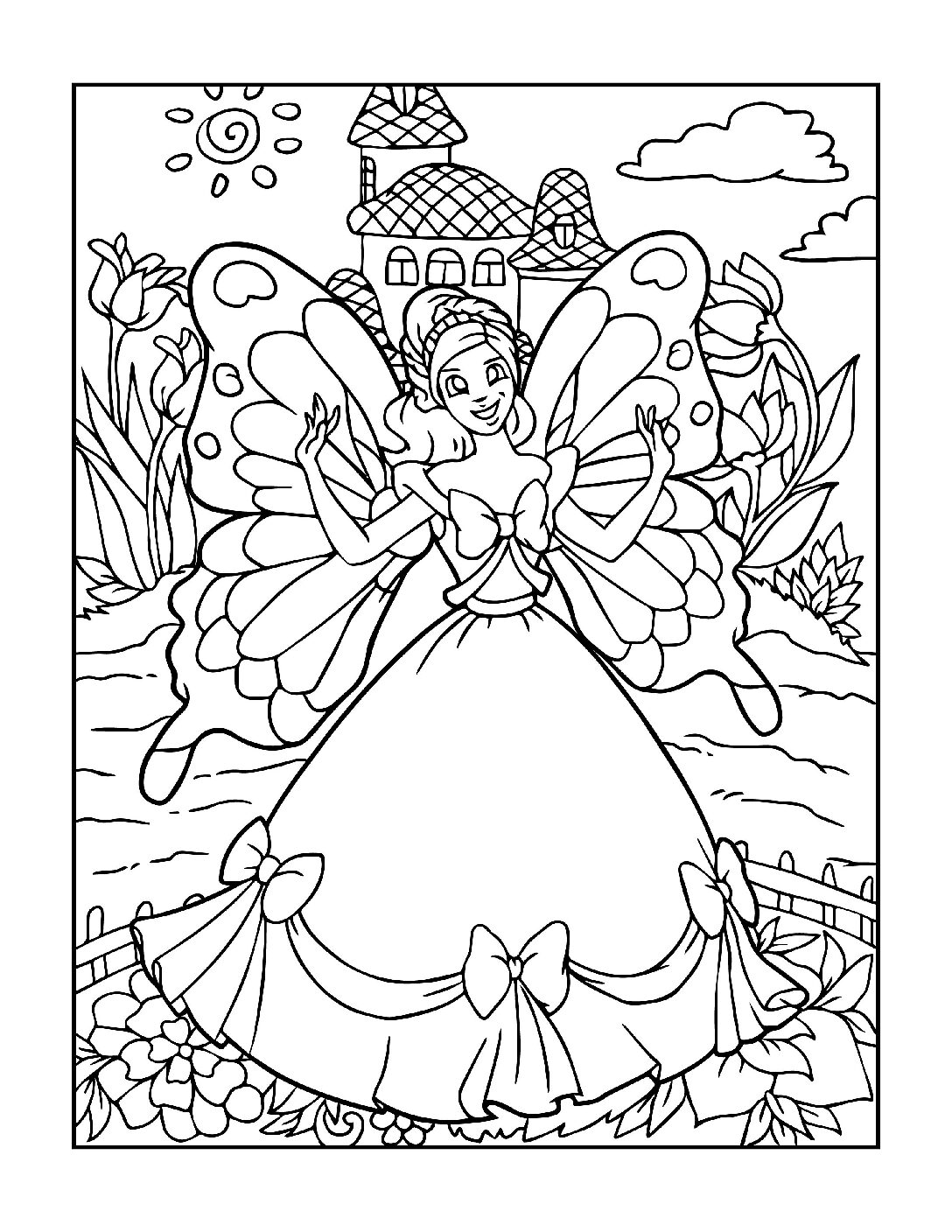 Coloring-Pages-Fairies-12-01-pdf Free Printable Fairy Colouring Pages
