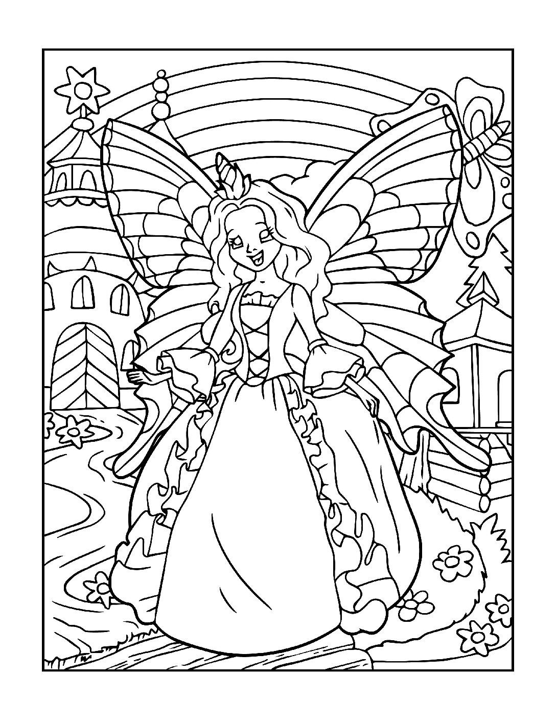 Coloring-Pages-Fairies-13-01-pdf Free Printable Fairy Colouring Pages