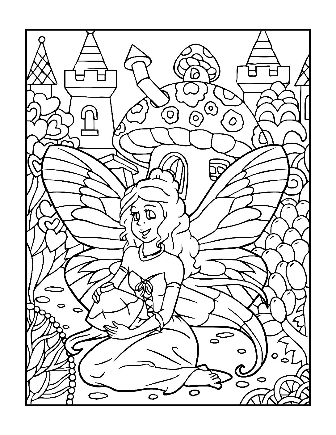 Coloring-Pages-Fairies-14-01-pdf Free Printable Fairy Colouring Pages