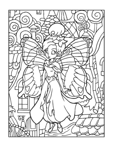 Coloring-Pages-Fairies-15-01-pdf-791x1024-640x480 Free Printable Fairy Colouring Pages