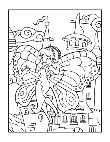 Coloring-Pages-Fairies-4-01-pdf-791x1024-640x480 Free Printable Fairy Colouring Pages