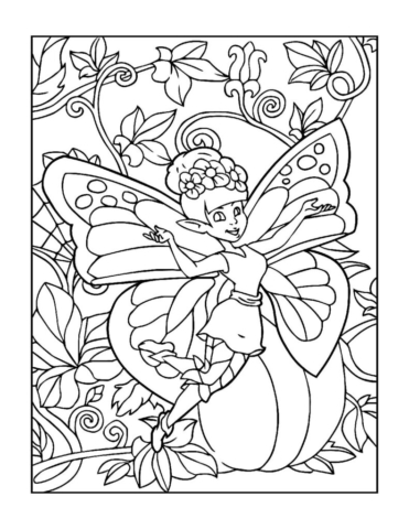 Coloring-Pages-Fairies-5-01-pdf-791x1024-640x480 Free Printable Fairy Colouring Pages