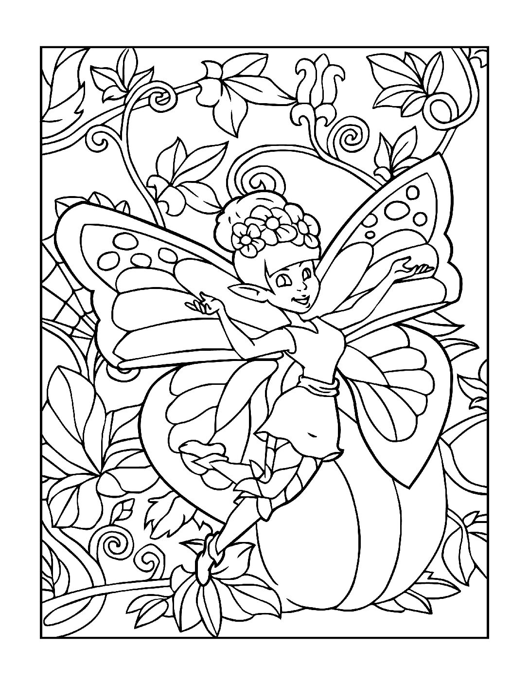 Coloring-Pages-Fairies-5-01-pdf Free Printable Fairy Colouring Pages