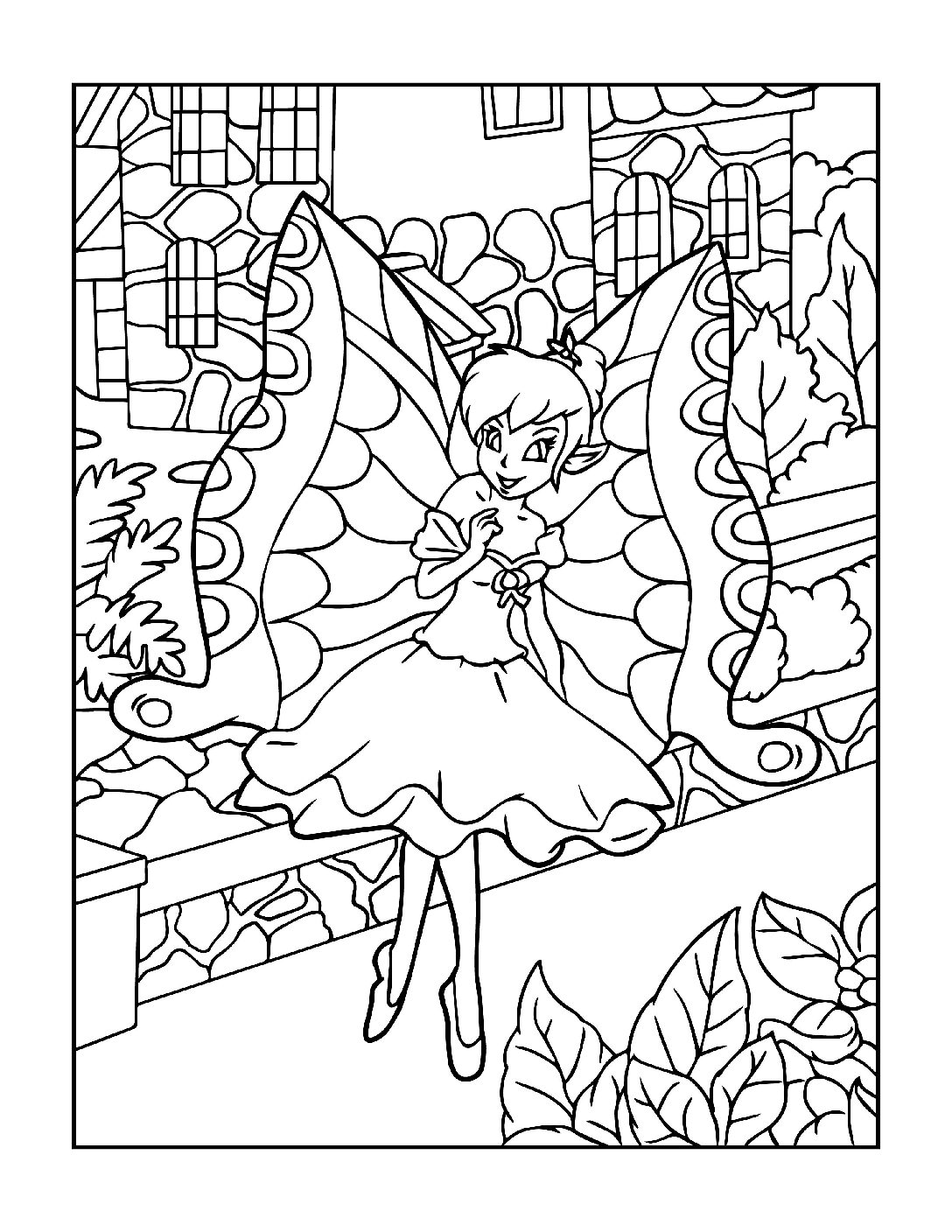Coloring-Pages-Fairies-6-01-pdf Free Printable Fairy Colouring Pages