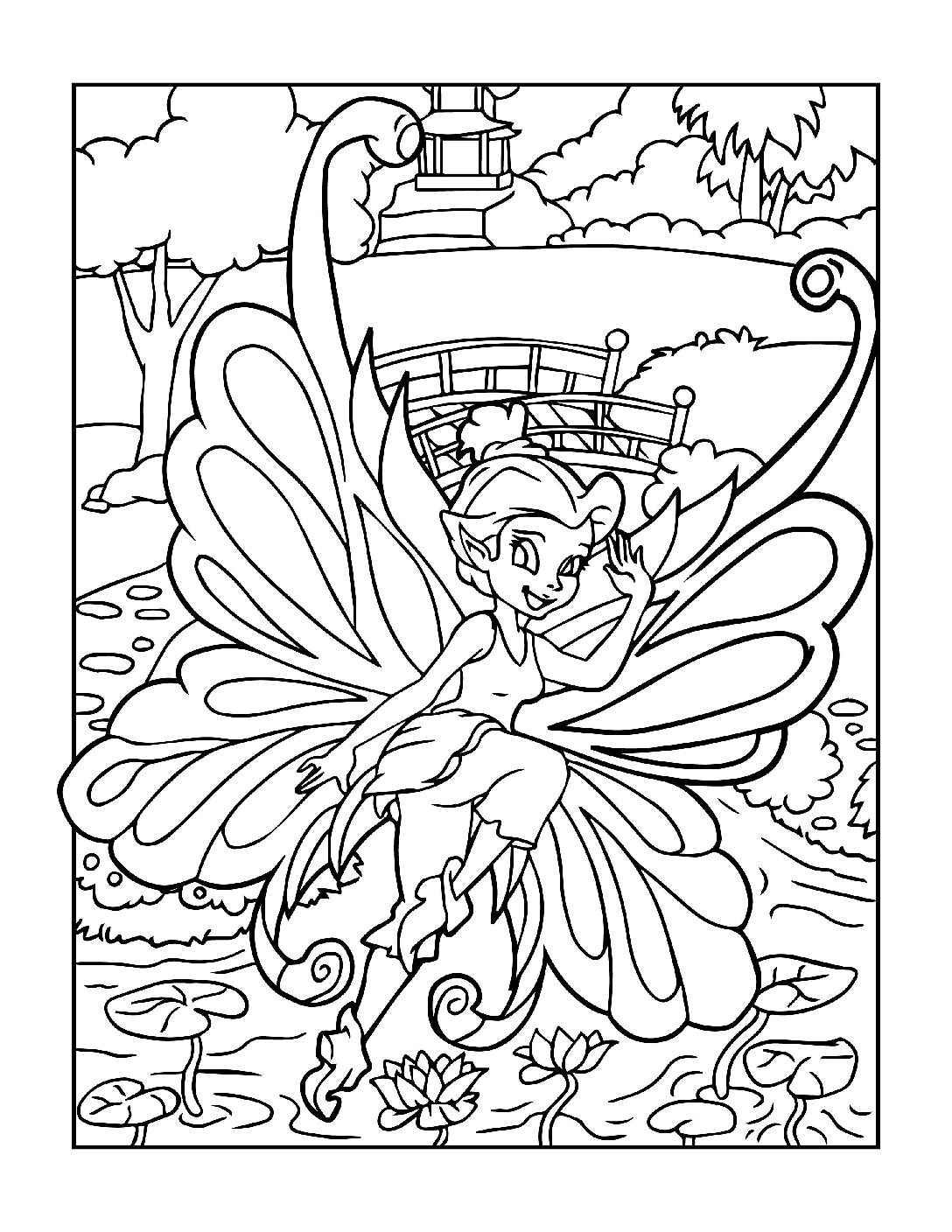 Coloring-Pages-Fairies-7-01-pdf Free Printable Fairy Colouring Pages