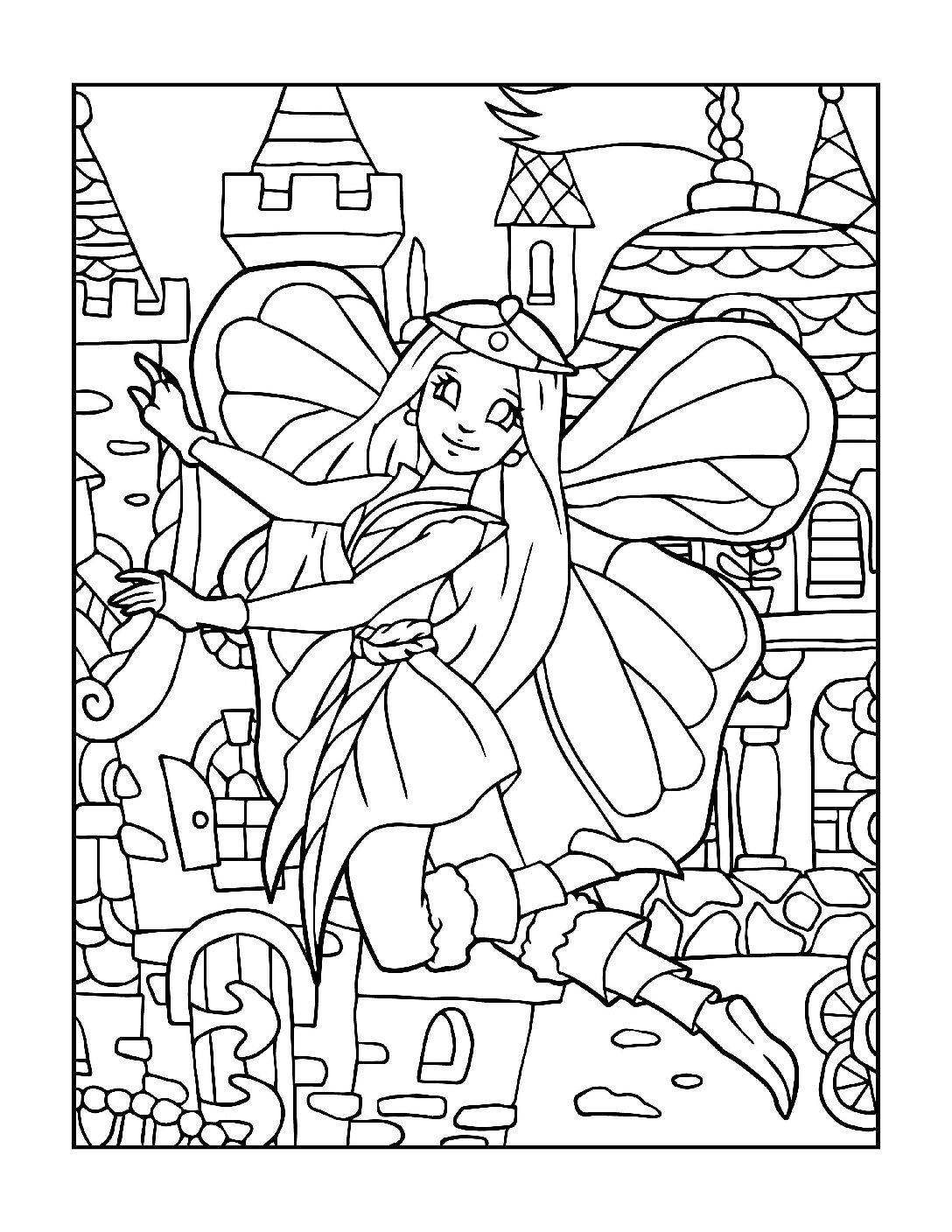 Coloring-Pages-Fairies-9-01-pdf Free Printable Fairy Colouring Pages