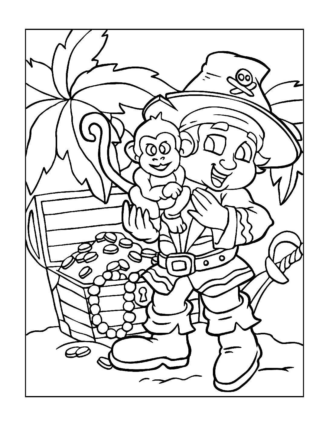 Coloring-Pages-Pirates-and-Knights-for-Boys-1-01-pdf Free Printable Pirates &  Knights Colouring Pages