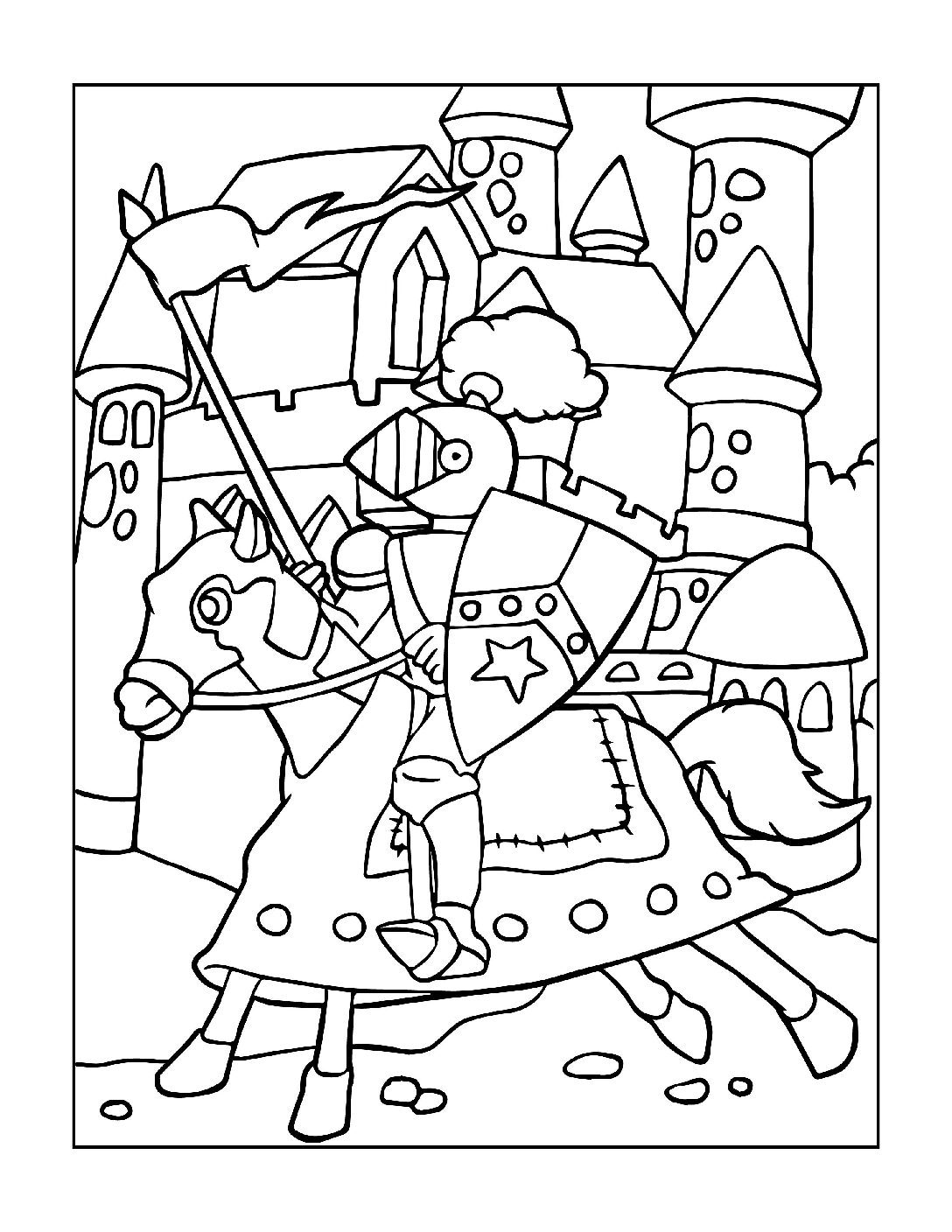 Coloring-Pages-Pirates-and-Knights-for-Boys-10-01-pdf Free Printable Pirates &  Knights Colouring Pages