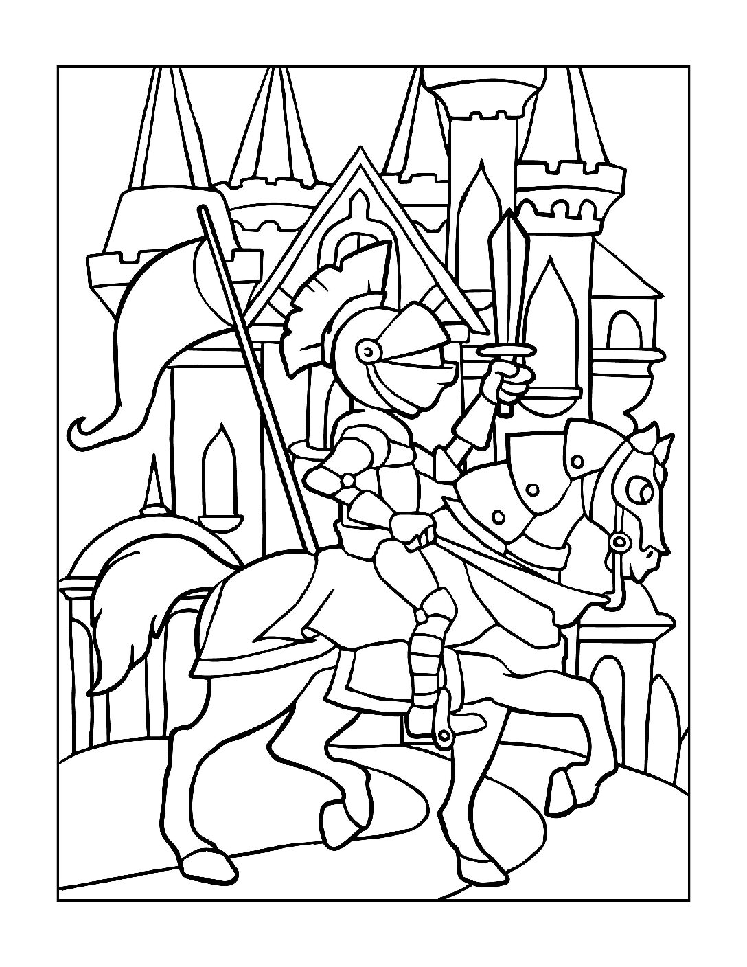 Coloring-Pages-Pirates-and-Knights-for-Boys-12-01-pdf Free Printable Pirates &  Knights Colouring Pages