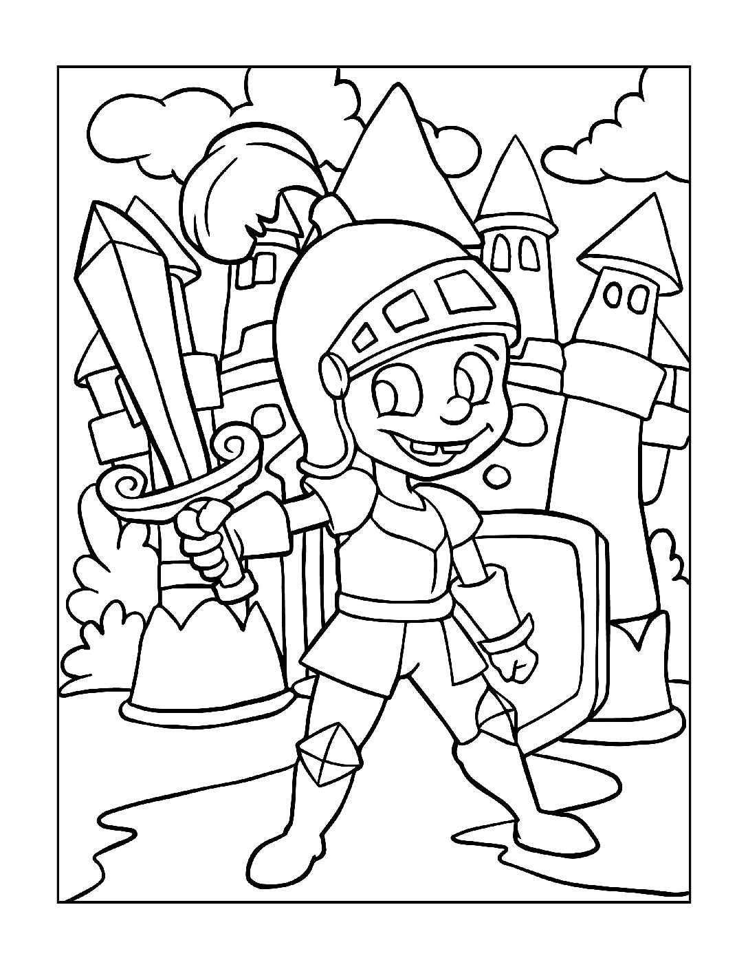 Coloring-Pages-Pirates-and-Knights-for-Boys-14-01-pdf Free Printable Pirates &  Knights Colouring Pages