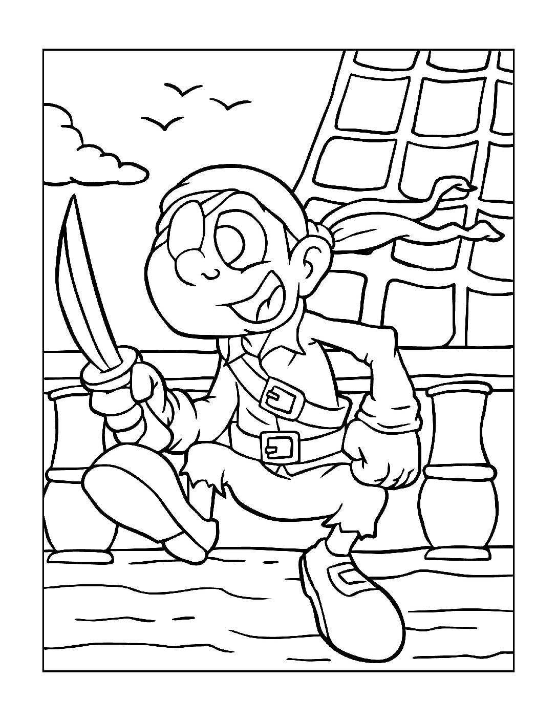 Coloring-Pages-Pirates-and-Knights-for-Boys-15-01-pdf Free Printable Pirates &  Knights Colouring Pages