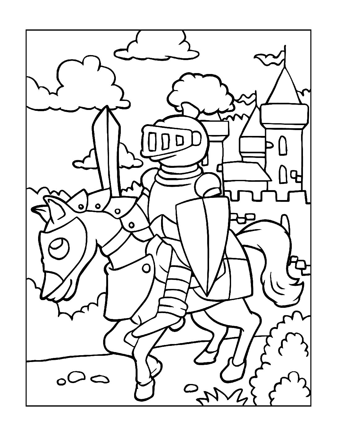 Coloring-Pages-Pirates-and-Knights-for-Boys-2-01-pdf Free Printable Pirates &  Knights Colouring Pages