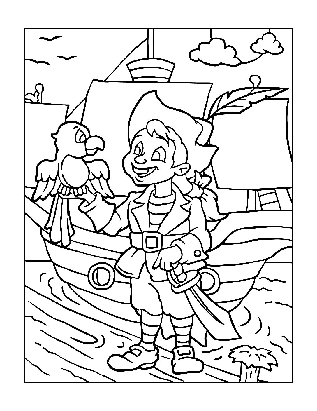 Coloring-Pages-Pirates-and-Knights-for-Boys-3-01-pdf Free Printable Pirates &  Knights Colouring Pages