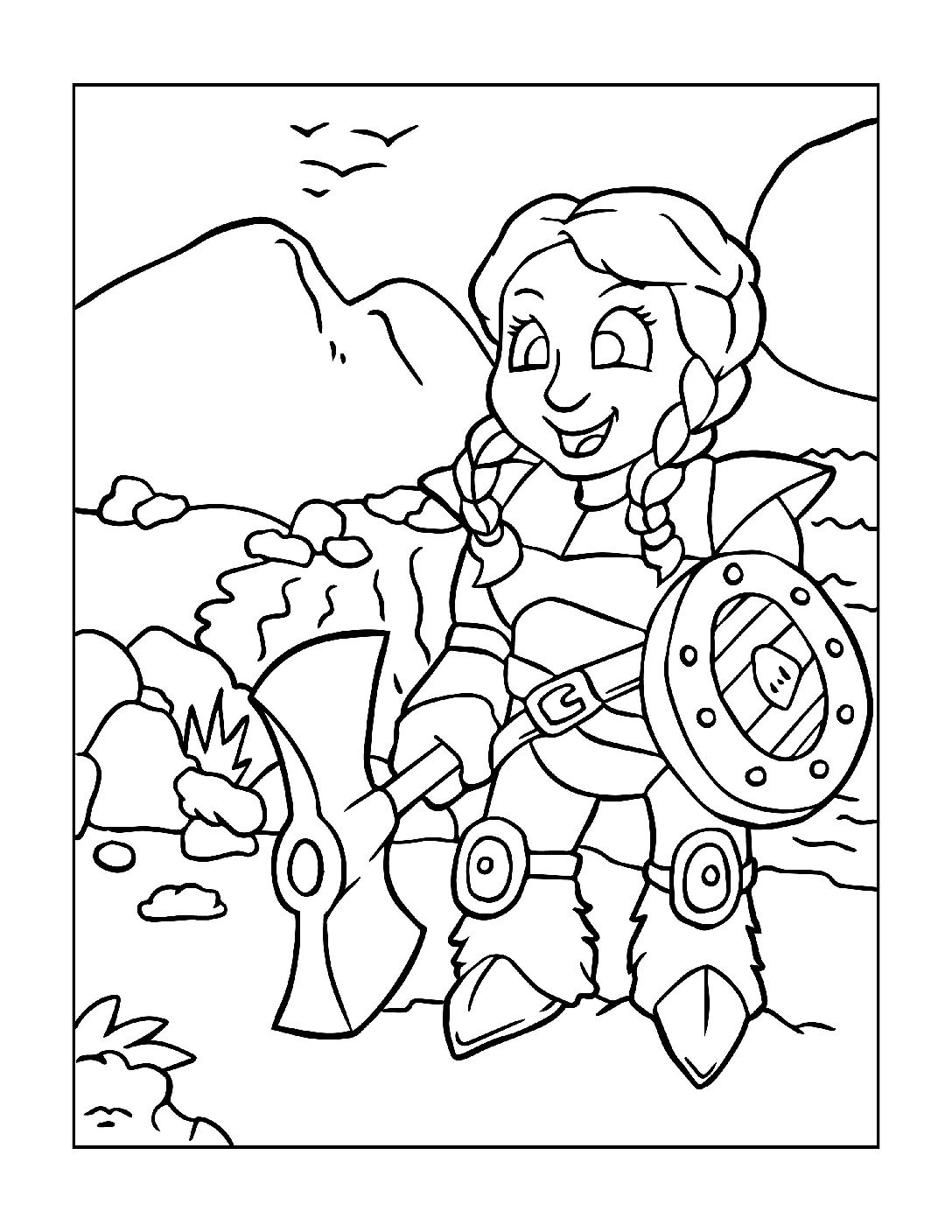 Coloring-Pages-Pirates-and-Knights-for-Boys-4-01-pdf Free Printable Pirates &  Knights Colouring Pages