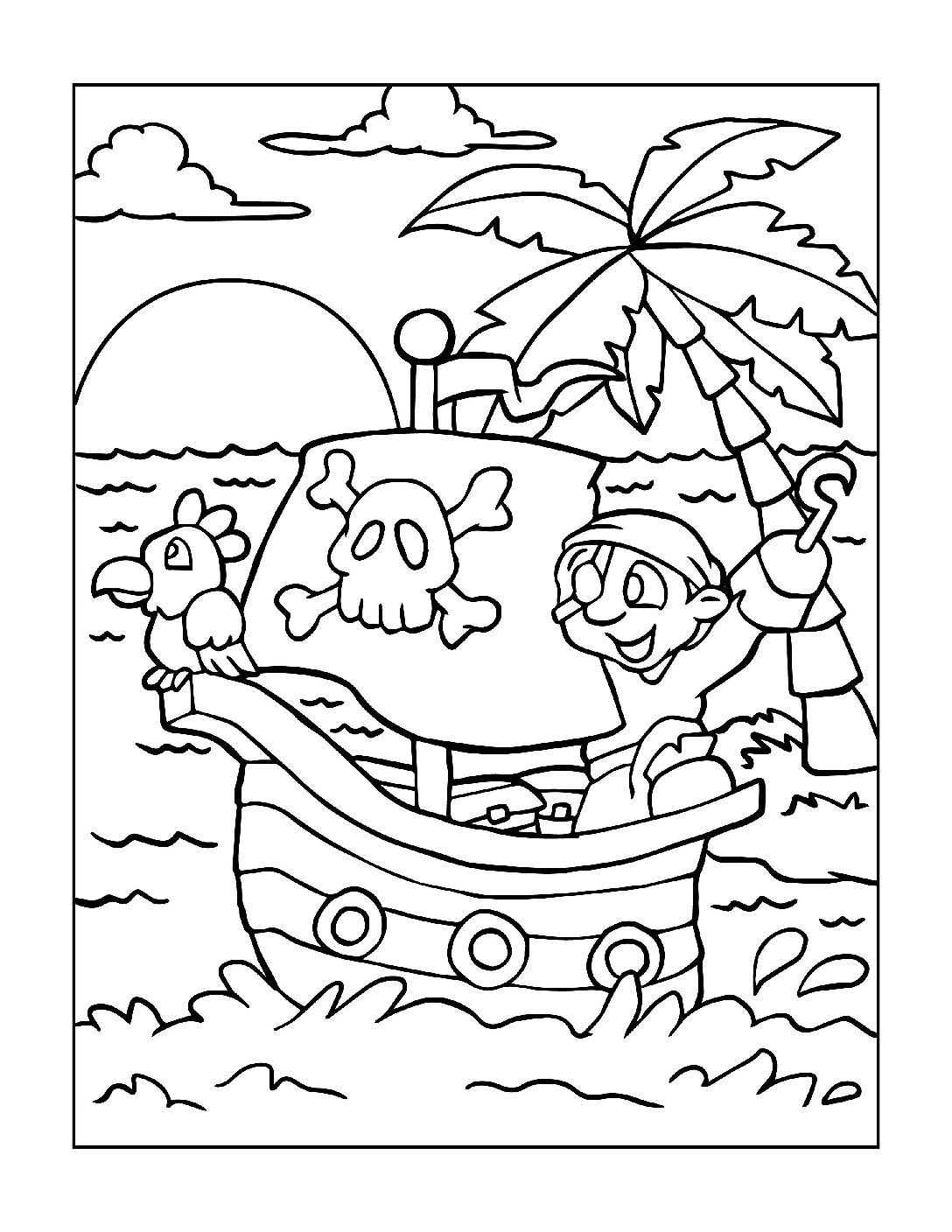 Coloring-Pages-Pirates-and-Knights-for-Boys-5-01-pdf Free Printable Pirates &  Knights Colouring Pages