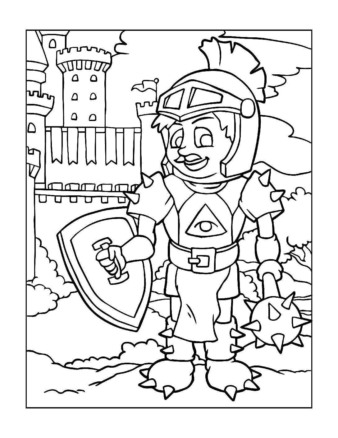 Coloring-Pages-Pirates-and-Knights-for-Boys-6-01-pdf Free Printable Pirates &  Knights Colouring Pages