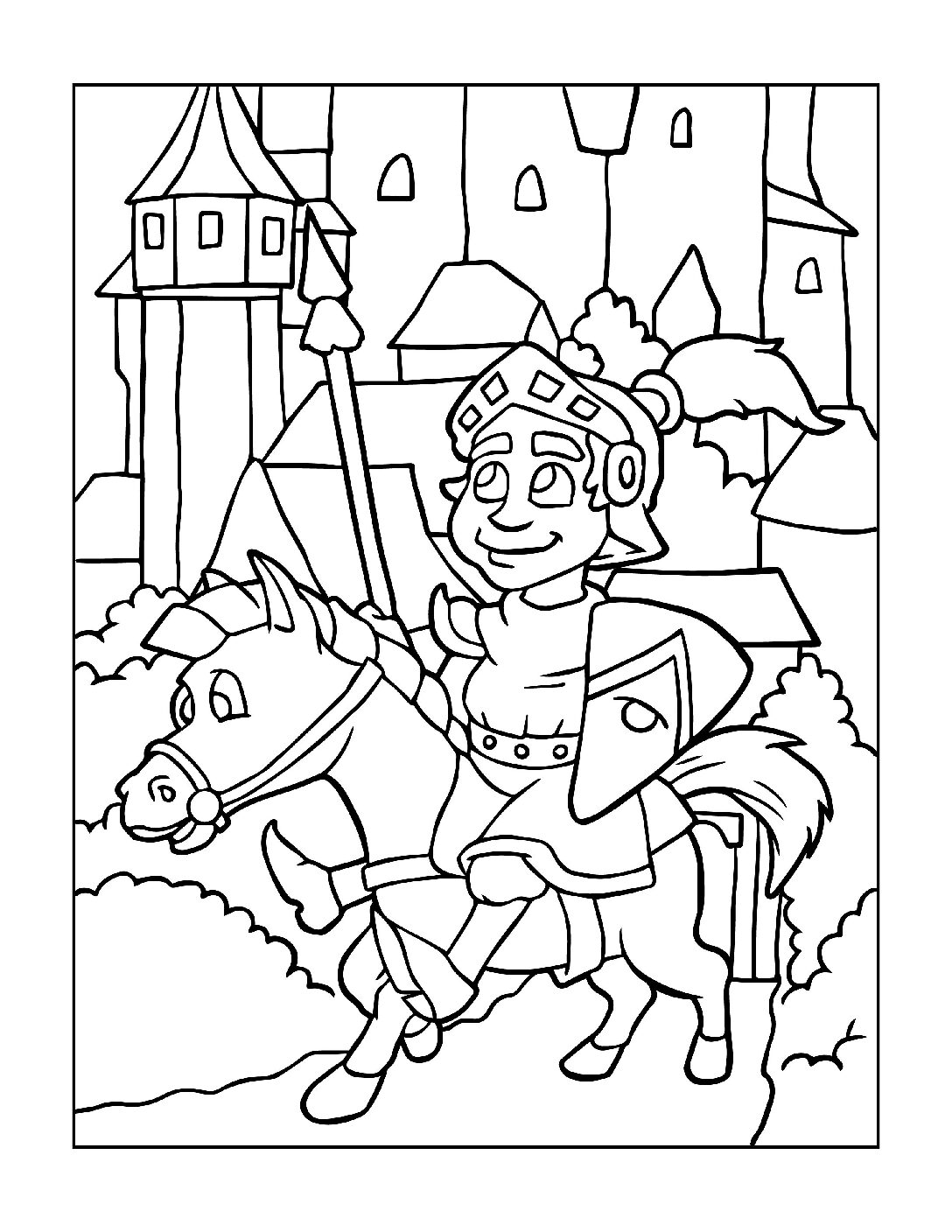 Coloring-Pages-Pirates-and-Knights-for-Boys-8-01-pdf Free Printable Pirates &  Knights Colouring Pages