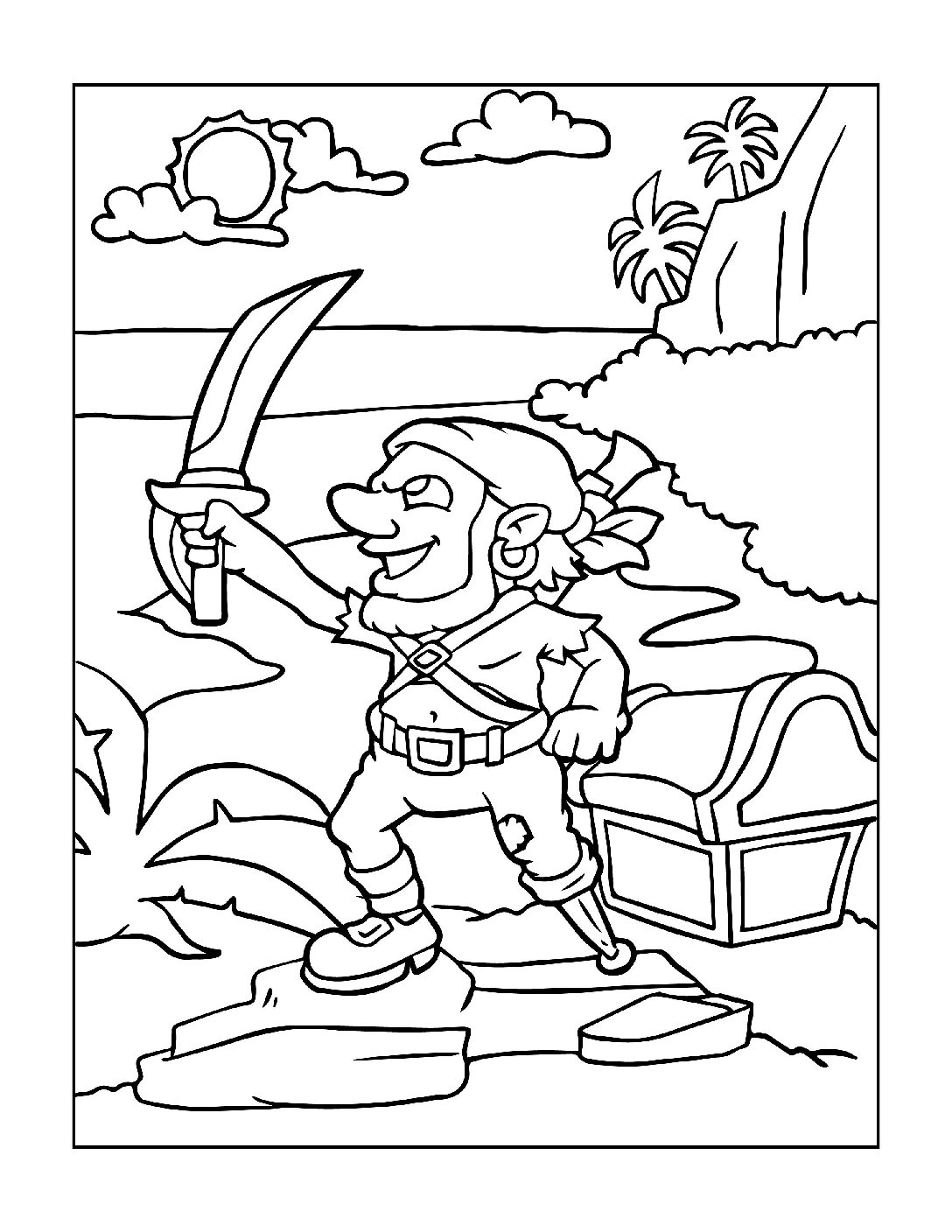 Coloring-Pages-Pirates-and-Knights-for-Boys-9-01-pdf Free Printable Pirates &  Knights Colouring Pages