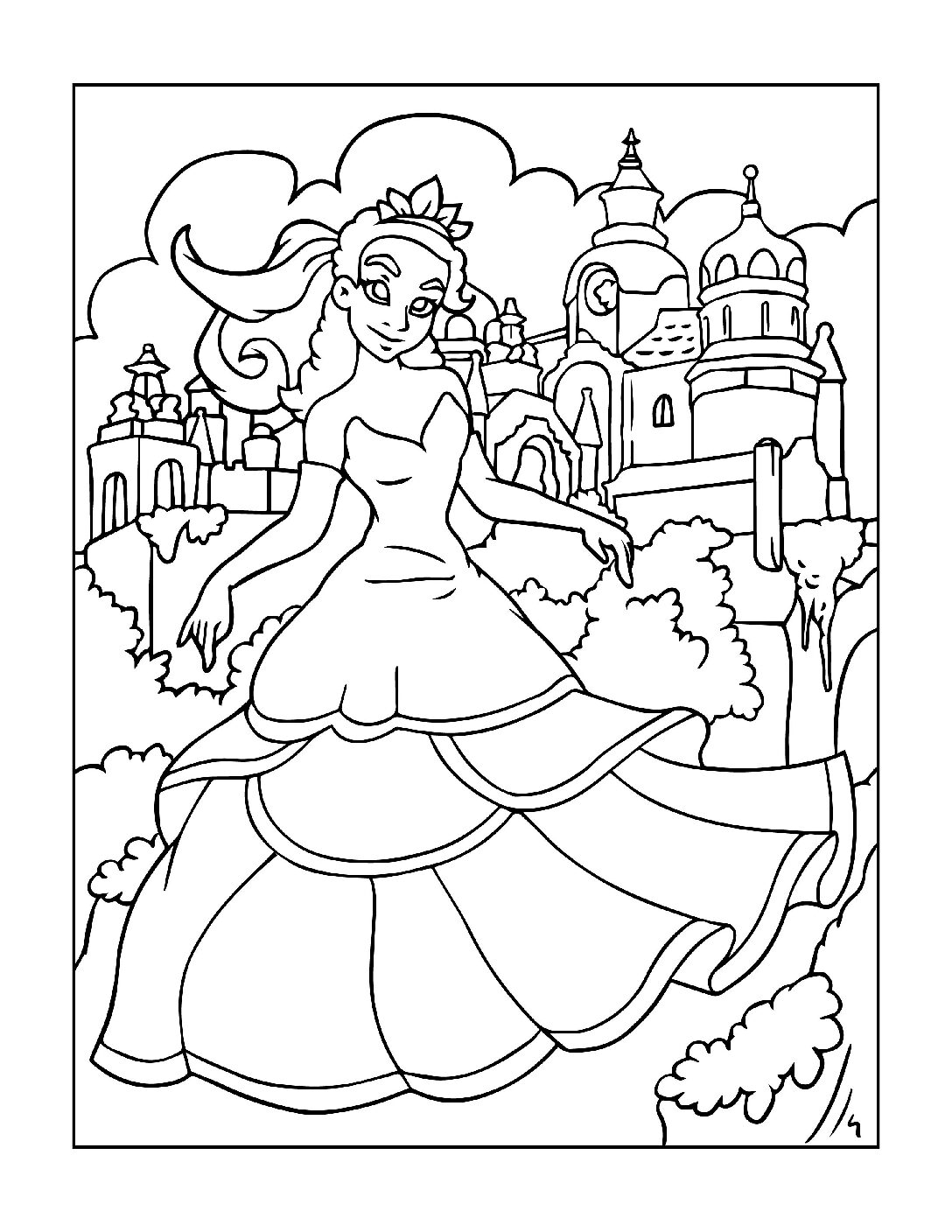 Coloring-Pages-Princess-1-01-pdf Free Printable Princesses Colouring Pages
