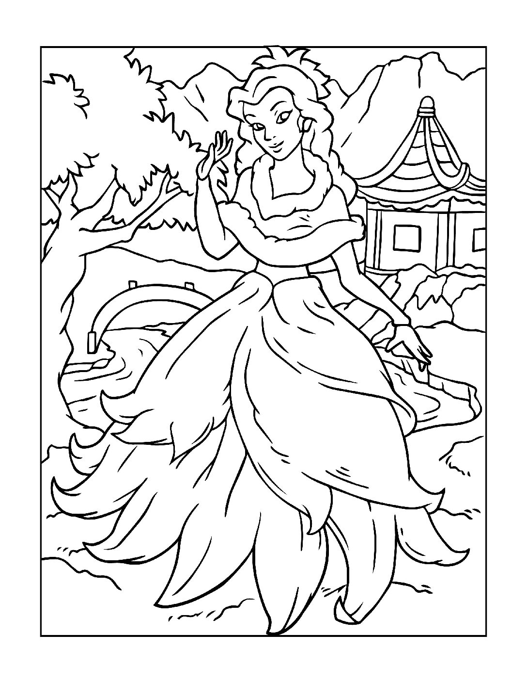 Coloring-Pages-Princess-10-01-pdf Free Printable Princesses Colouring Pages