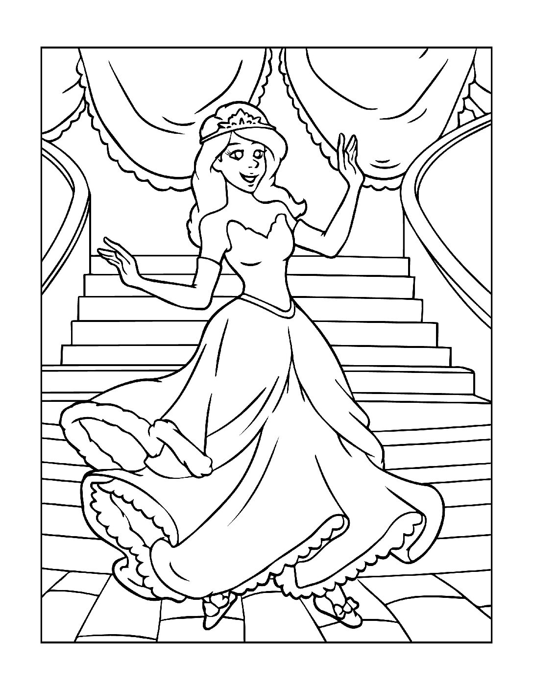 Coloring-Pages-Princess-11-01-pdf Free Printable Princesses Colouring Pages