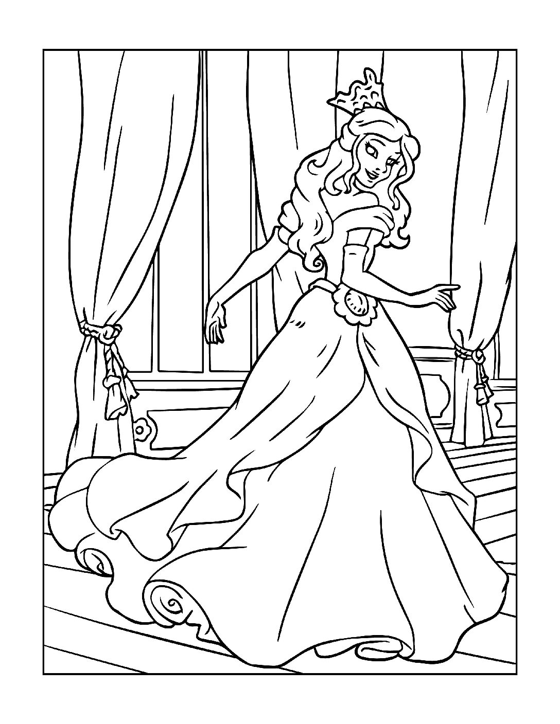 Coloring-Pages-Princess-12-01-pdf Free Printable Princesses Colouring Pages