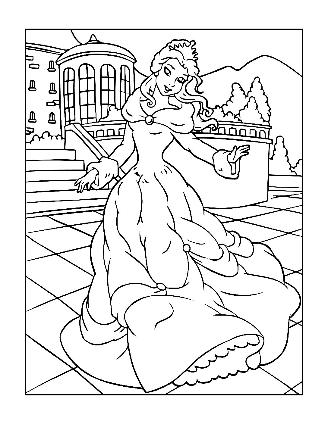 Coloring-Pages-Princess-13-01-pdf Free Printable Princesses Colouring Pages