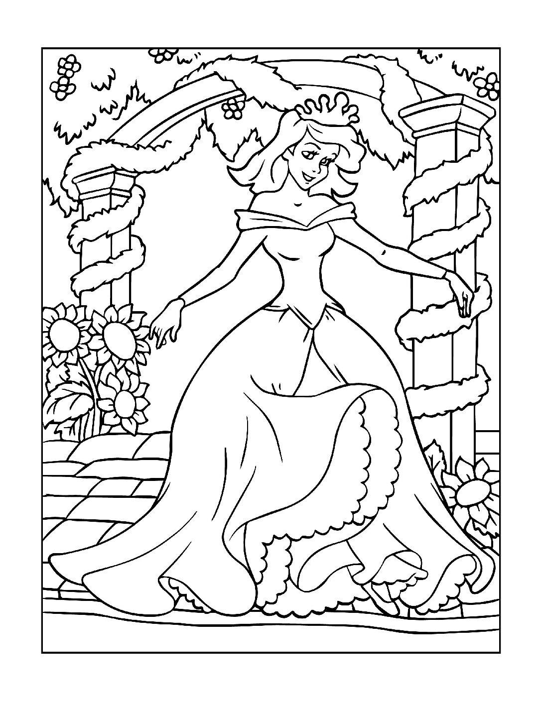 Coloring-Pages-Princess-15-01-pdf Free Printable Princesses Colouring Pages
