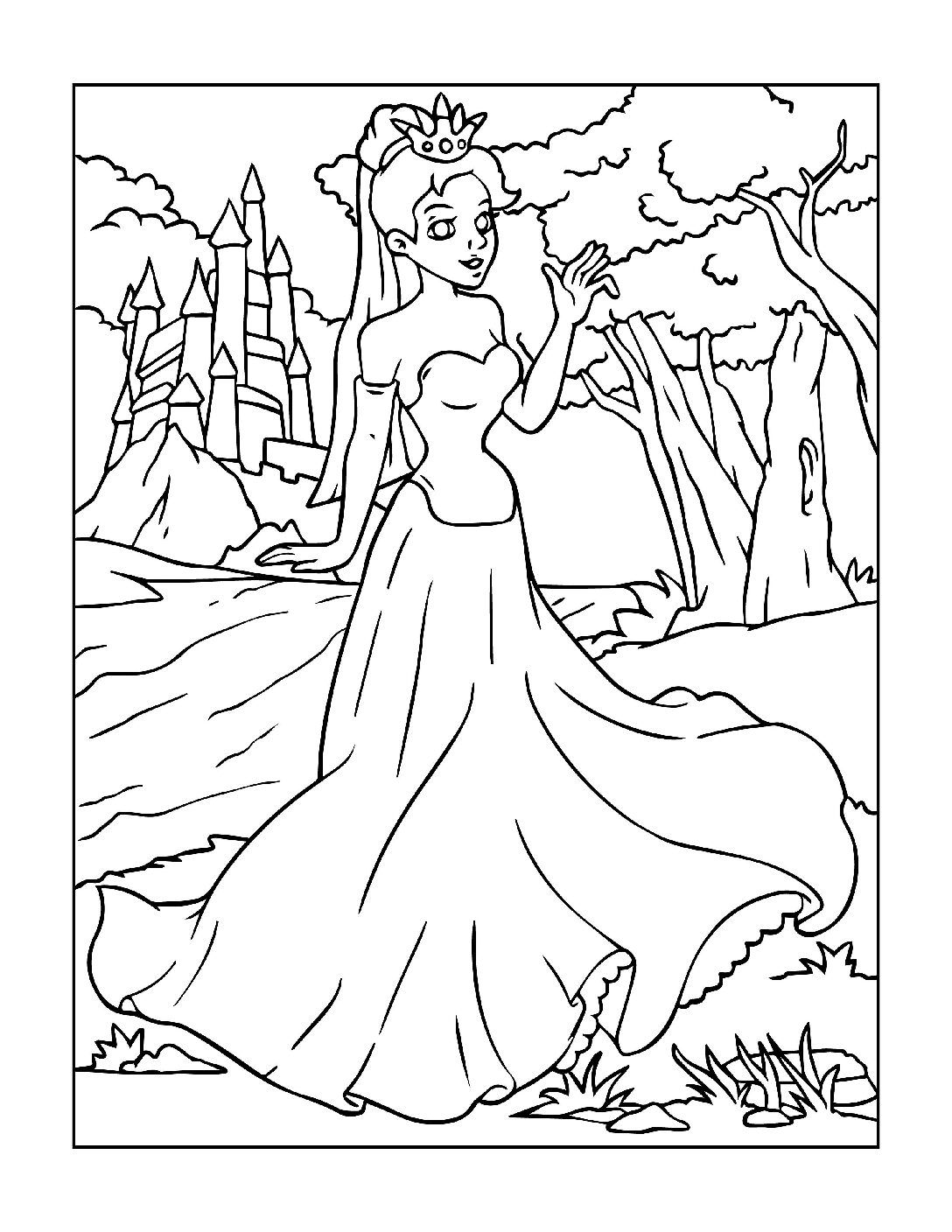 Coloring-Pages-Princess-16-01-pdf Free Printable Princesses Colouring Pages
