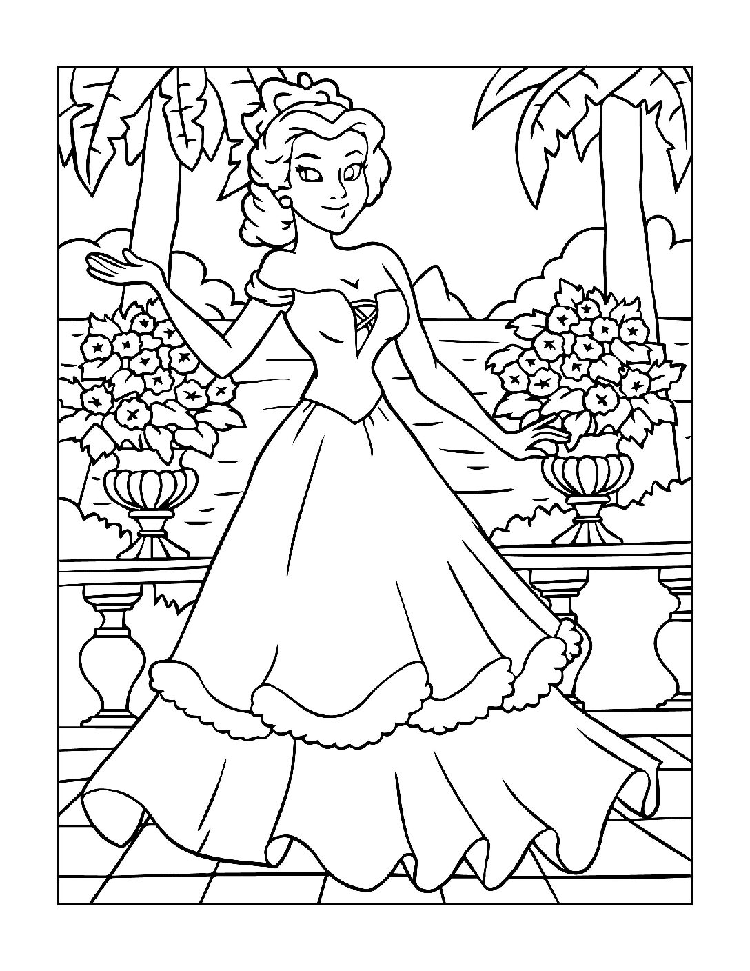 Coloring-Pages-Princess-17-01-pdf Free Printable Princesses Colouring Pages