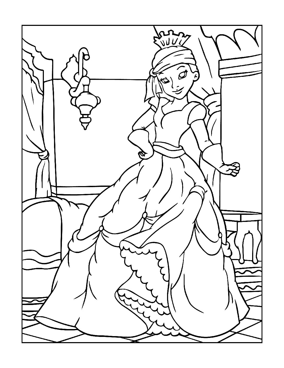 Coloring-Pages-Princess-19-01-pdf Free Printable Princesses Colouring Pages