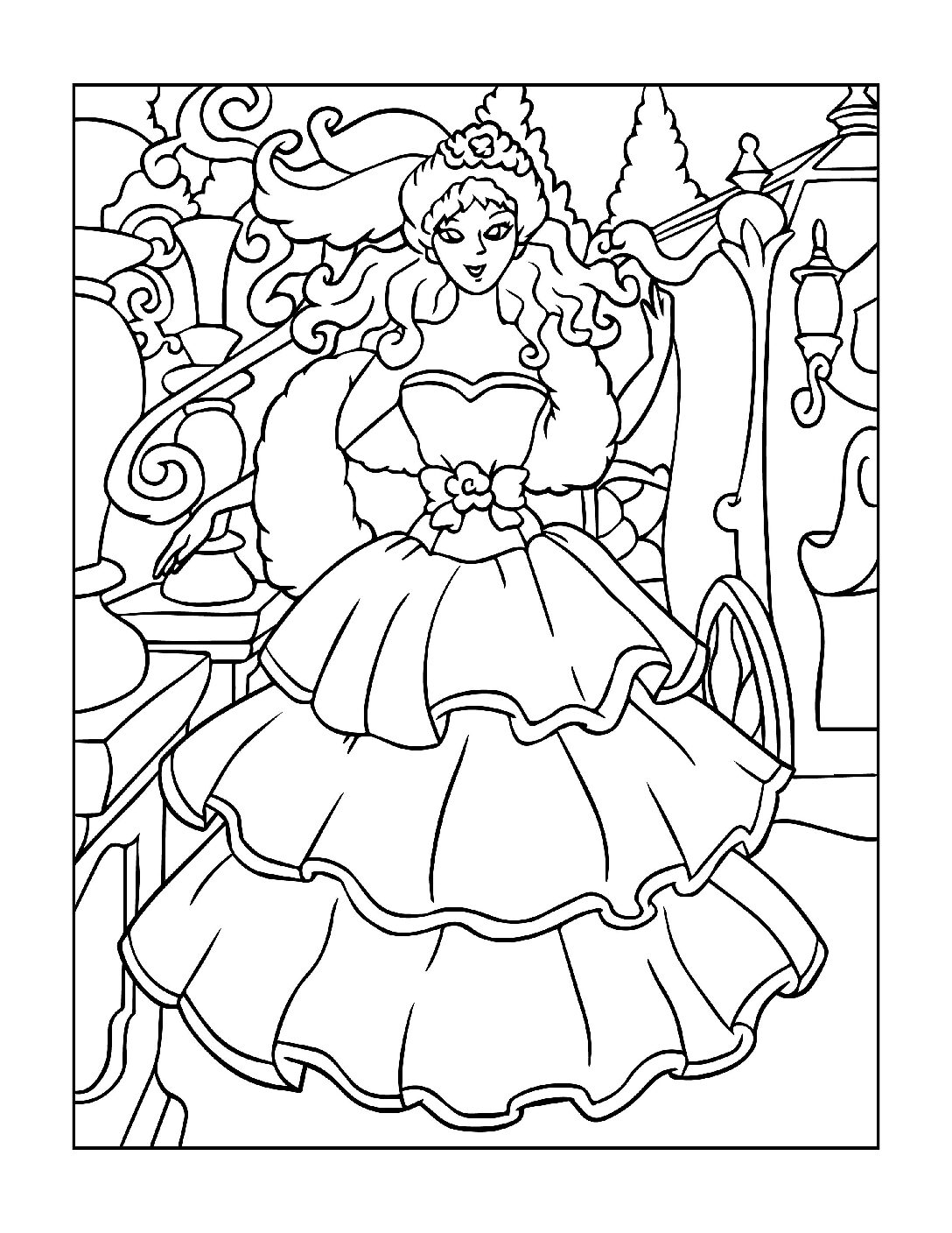 Coloring-Pages-Princess-20-01-pdf Free Printable Princesses Colouring Pages