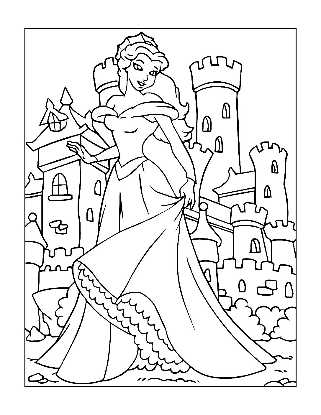 Coloring-Pages-Princess-4-01-pdf Free Printable Princesses Colouring Pages