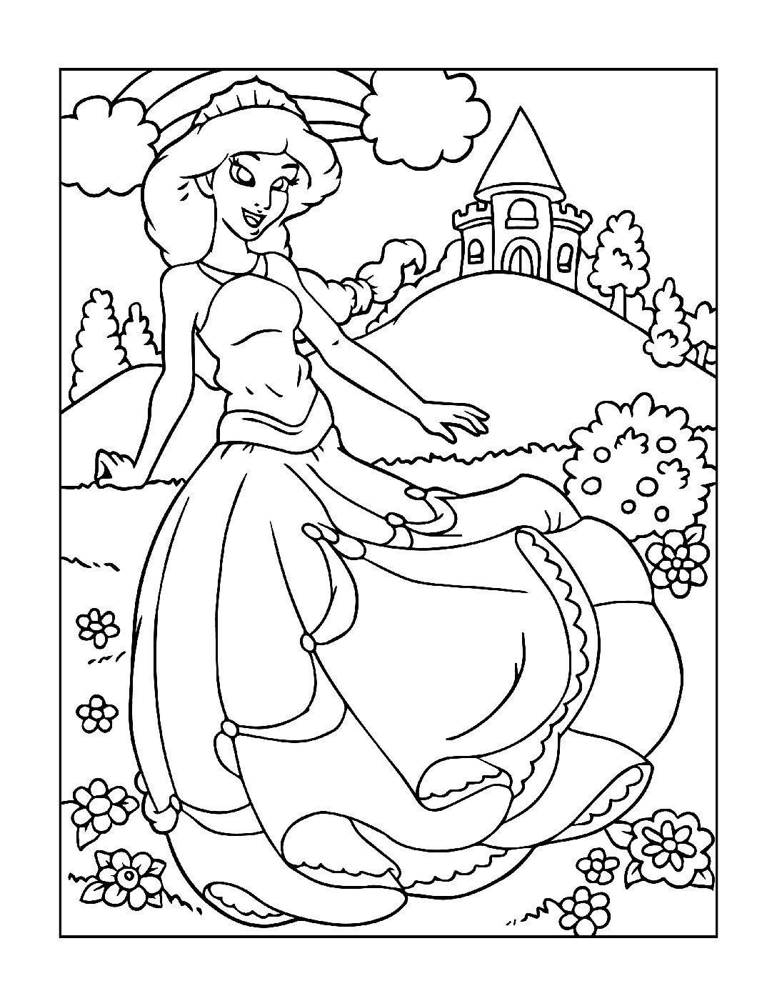 Coloring-Pages-Princess-5-01-pdf Free Printable Princesses Colouring Pages
