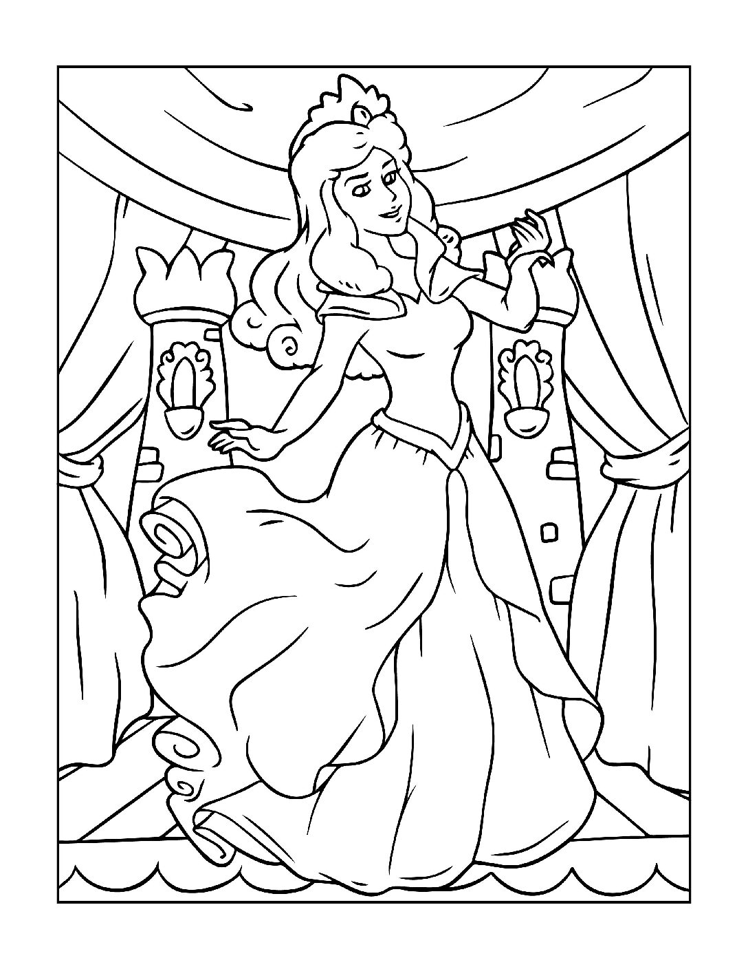 Coloring-Pages-Princess-6-01-pdf Free Printable Princesses Colouring Pages