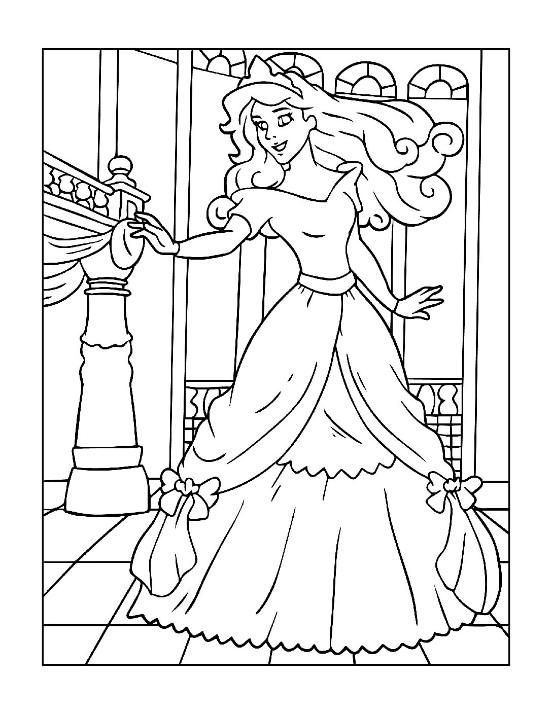Coloring-Pages-Princess-7-01-pdf Free Printable Princesses Colouring Pages