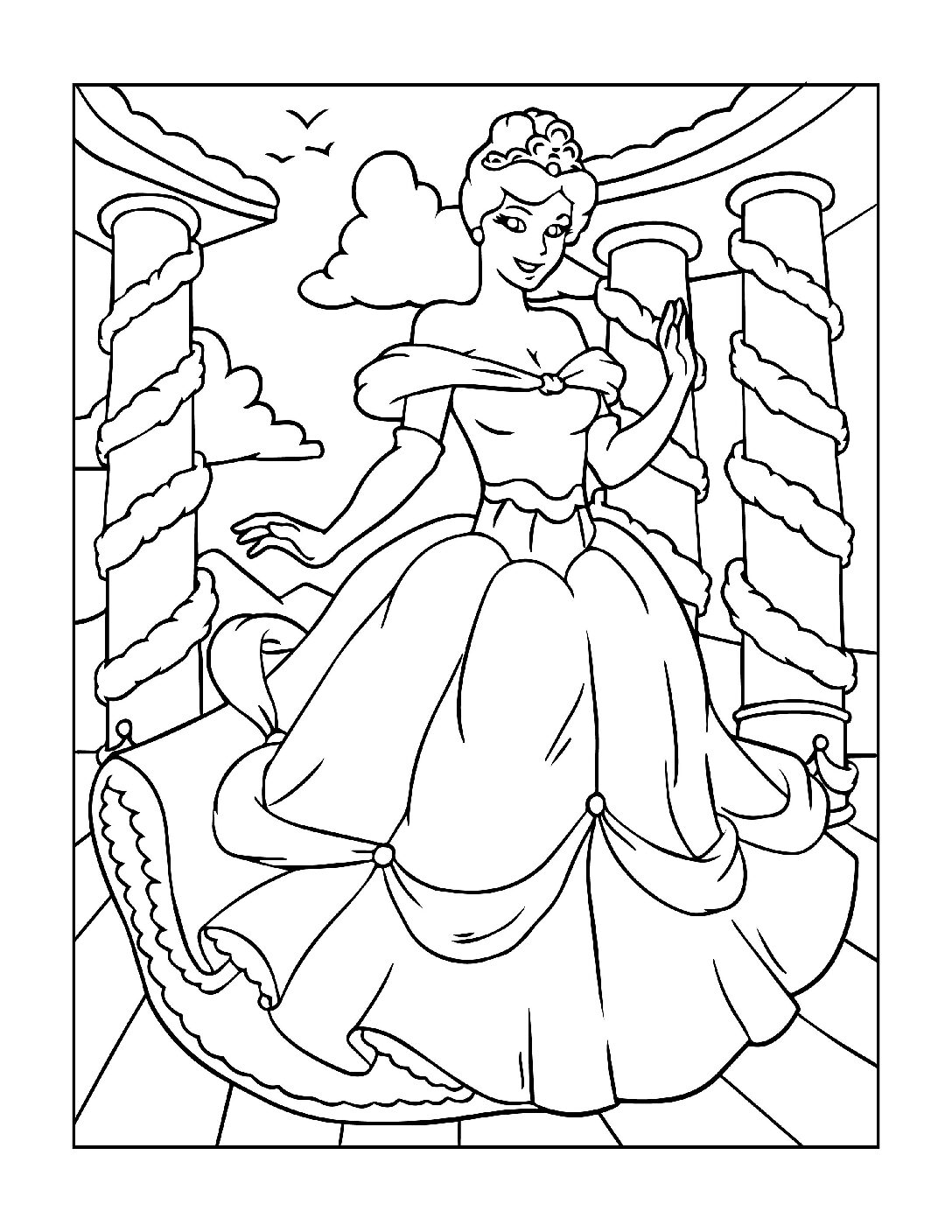 Coloring-Pages-Princess-9-01-pdf Free Printable Princesses Colouring Pages