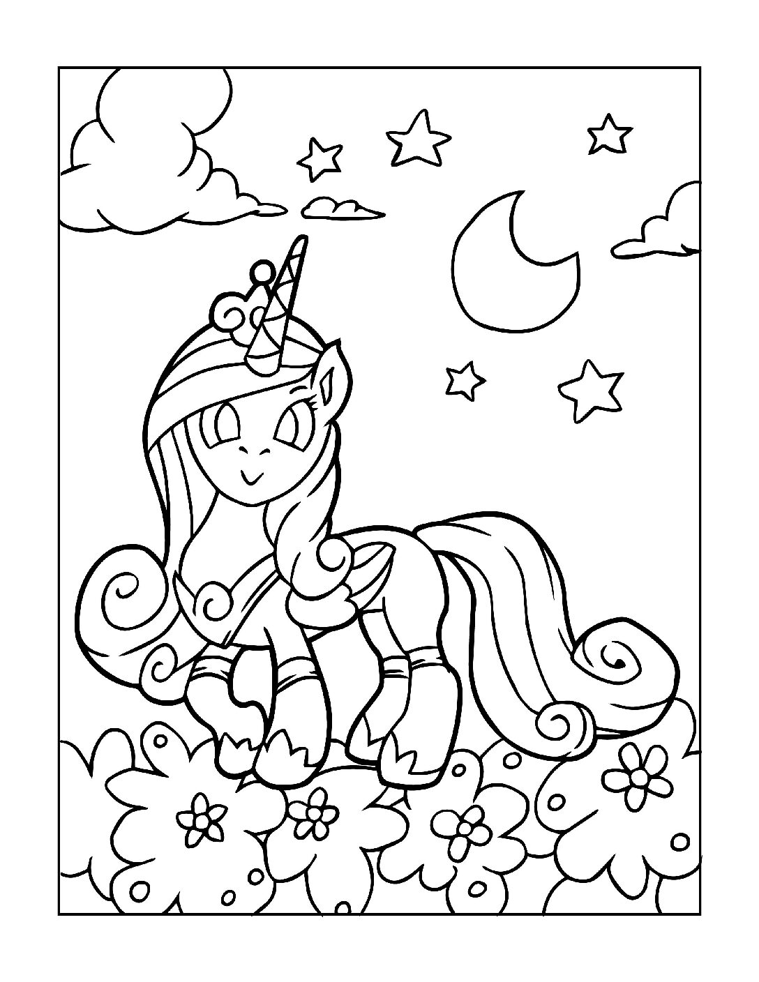 Coloring-Pages-Unicorns-1-pdf Free Printable Unicorn Colouring Pages