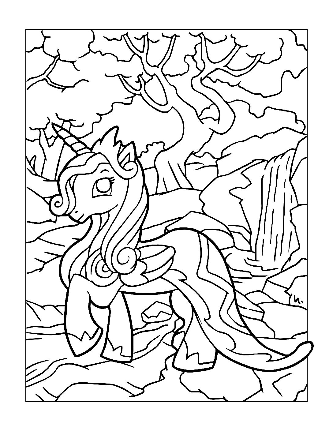Coloring-Pages-Unicorns-10-pdf Free Printable Unicorn Colouring Pages