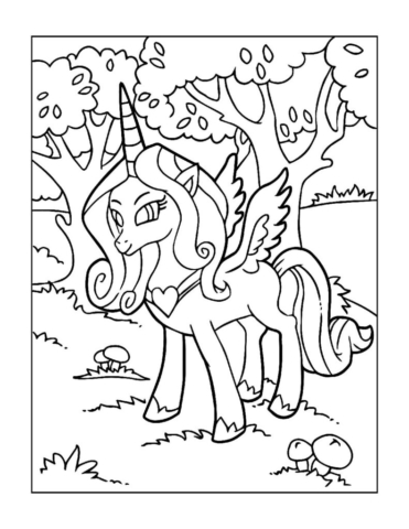 Coloring-Pages-Unicorns-14-pdf-791x1024-640x480 Free Printable Unicorn Colouring Pages