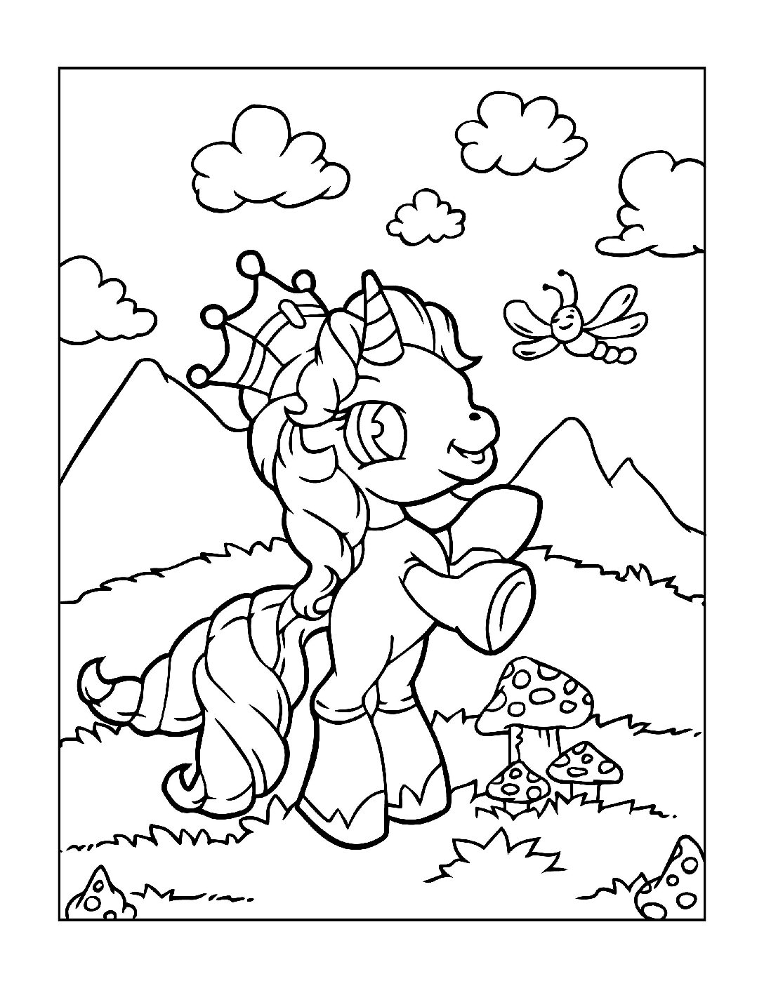 Coloring-Pages-Unicorns-2-pdf Free Printable Unicorn Colouring Pages
