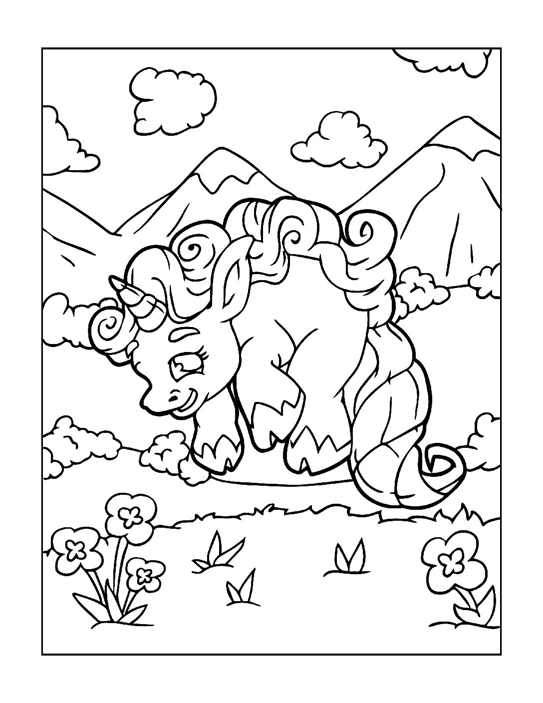 Coloring-Pages-Unicorns-4-pdf Free Printable Unicorn Colouring Pages
