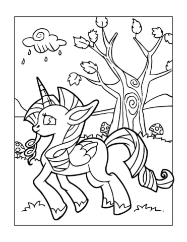 Coloring-Pages-Unicorns-5-pdf-791x1024-640x480 Free Printable Unicorn Colouring Pages