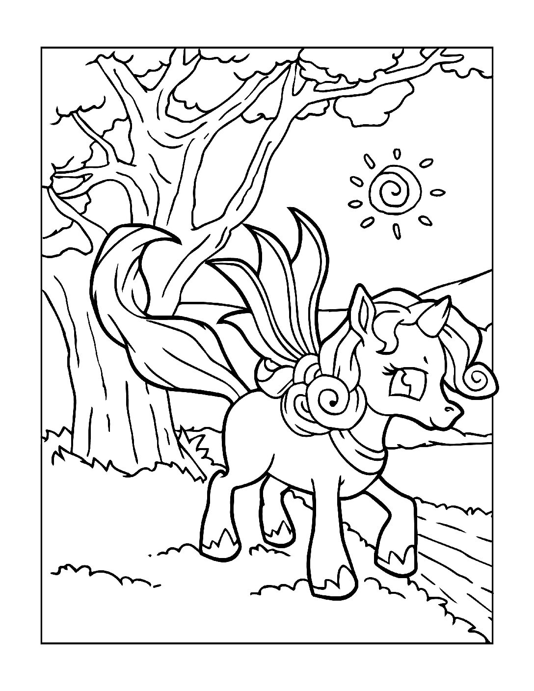 Coloring-Pages-Unicorns-6-pdf Free Printable Unicorn Colouring Pages