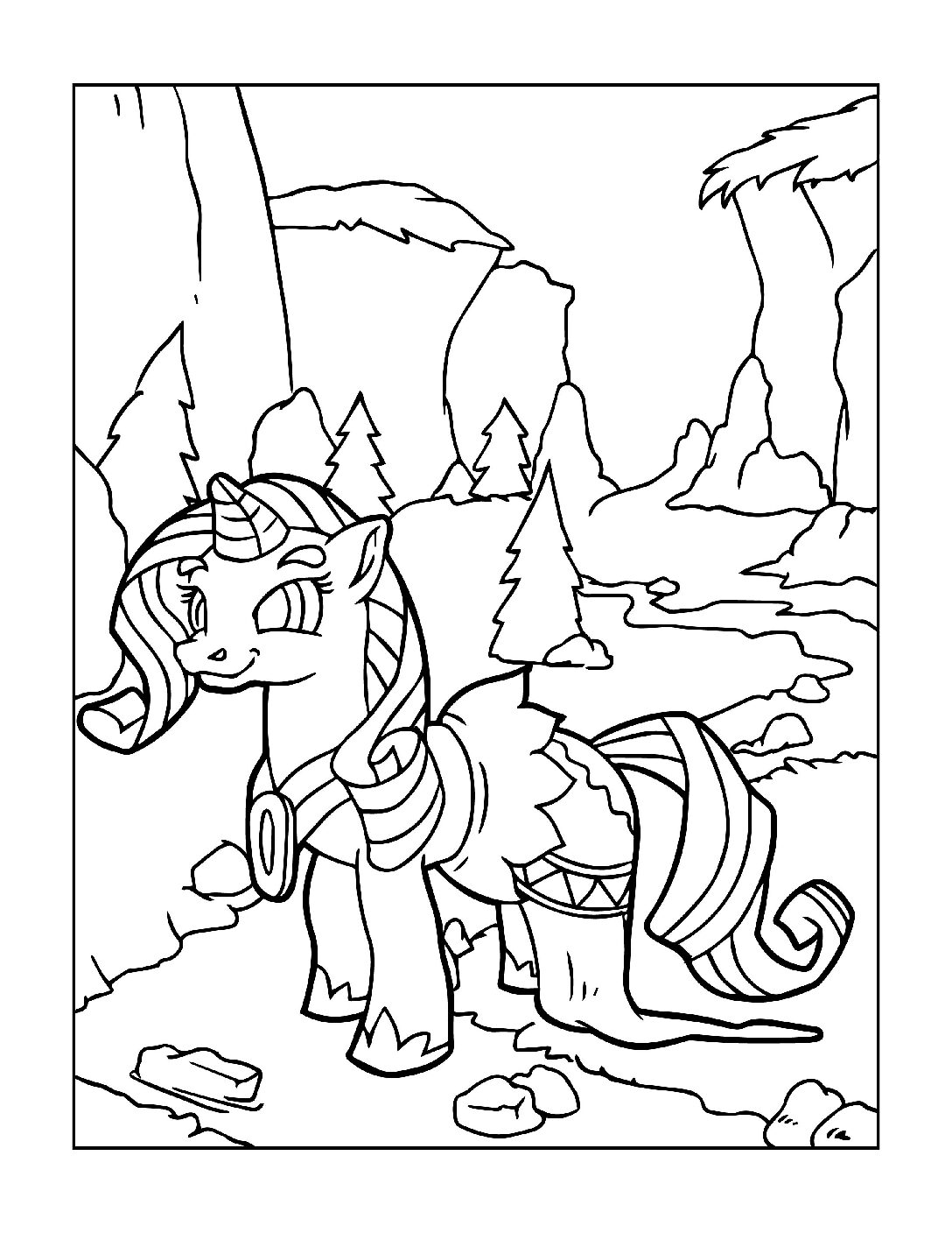 Coloring-Pages-Unicorns-8-pdf Free Printable Unicorn Colouring Pages