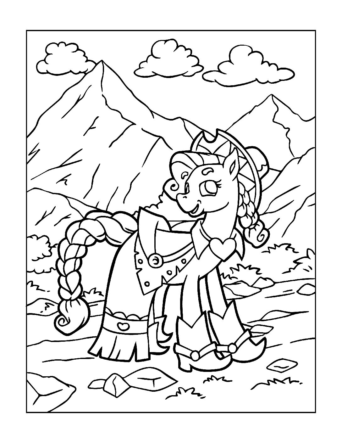 Coloring-Pages-Unicorns-9-pdf Free Printable Unicorn Colouring Pages