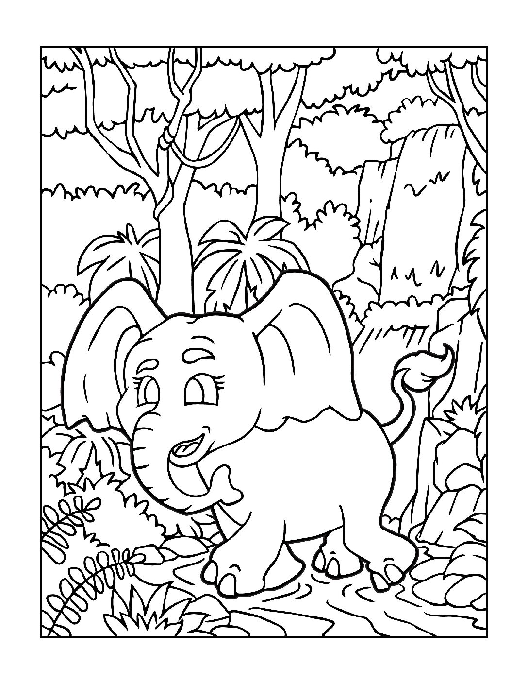 Coloring-Pages-Zoo-Animals-1-01-1-pdf Free Printable  Zoo Animals Colouring Pages