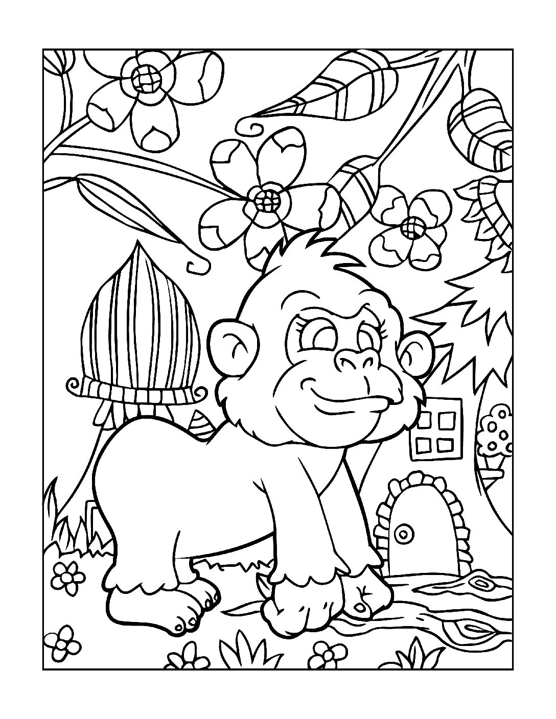 Coloring-Pages-Zoo-Animals-7-01-1-pdf Free Printable  Zoo Animals Colouring Pages