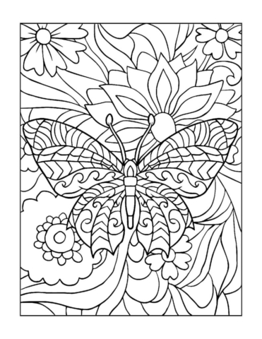 Coloring-Pages_Butterflies-1-01-2-pdf-791x1024-640x480 Free Printable Butterfly Colouring Pages